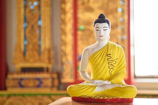 Religion, Buddha Statue, Seat, Regards, Respect