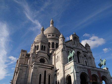 Sacred Heart, Paris, Basilica, Church, Religion, France