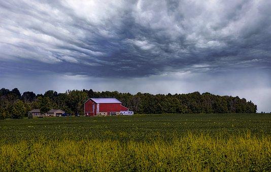 Barn, Rustic, Barns, Ohio, Storm, Storm Clouds