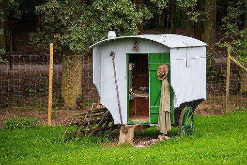 Schäfer, Caravan, Hut, Sheep Breeding, Schäfer Wagon