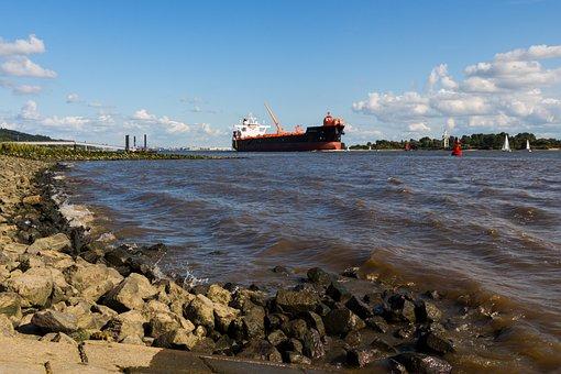 Elbe, Ship, Shipping, Hamburg, Port, Tug
