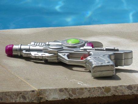 Toy, Water Gun, Summer, Plastic, Wet, Pool