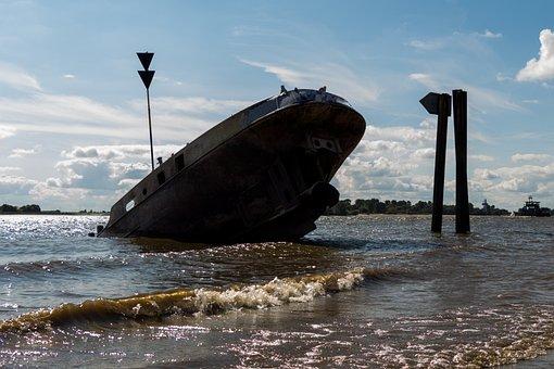 Wreck, Ship Wreck, Broken, Beach, Old, Ship, Stainless
