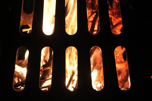 Fire, Flame, Baking, Burning, Wood, Border, Blazing