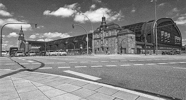 Hamburg, Central Station, Train, Architecture