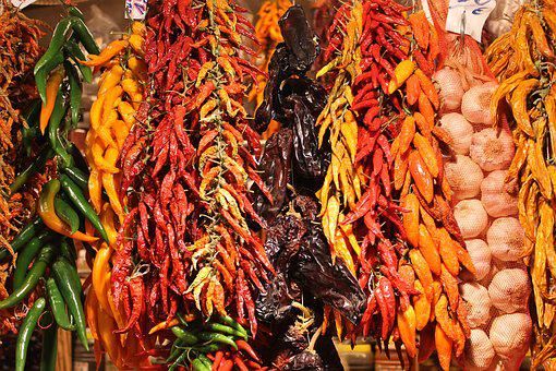 Chilli, Spices, Color, Food