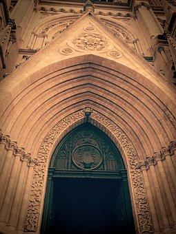 Door, Input, Gate, Facade, Iron, Castle, Front