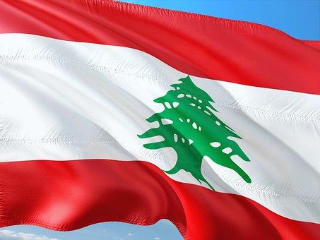 International, Flag, Lebanon, Middle East