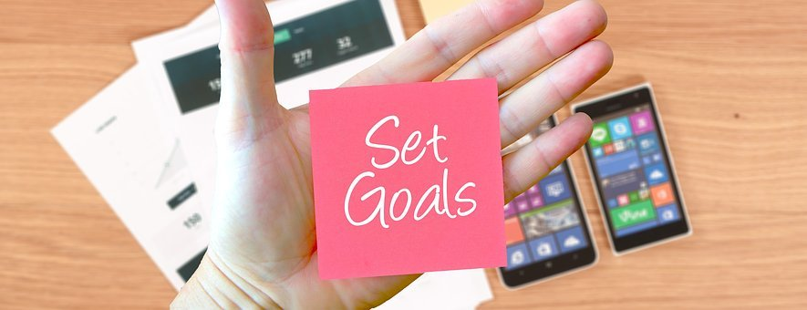 Goals, Setting, Office, Work, Note, Hand Writting