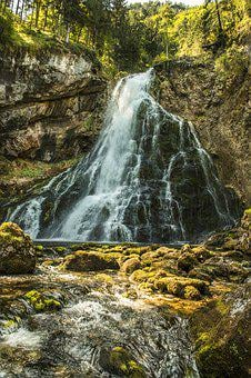 Golling, Waterfall, Gollinger Waterfall, Austria