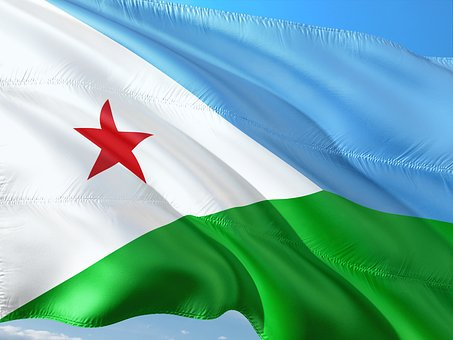 International, Flag, Djibouti, Republic Of East Africa