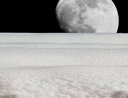 Moon, Luna, Landscape, Full Moon, Moonlight, Sky