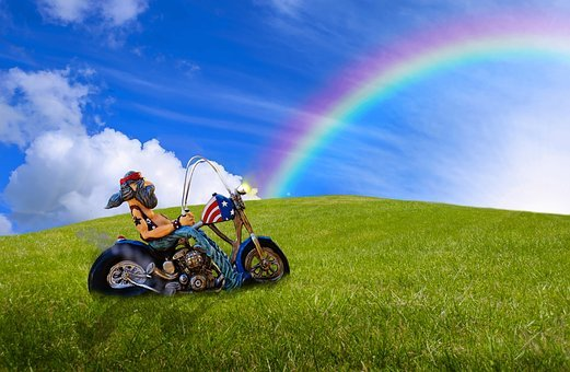 Biker, Motorcycle, Motorcyclist, Motorcycling, Road