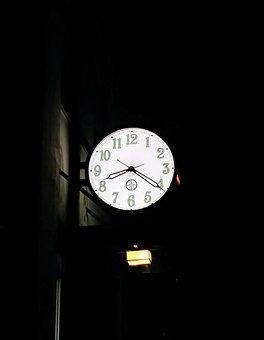 Time, Clock, Watch, Nighttime, Analog, Retro, Classic