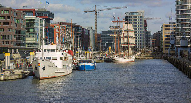 Hamburg, Hanseatic City, Ship, City, View, Port