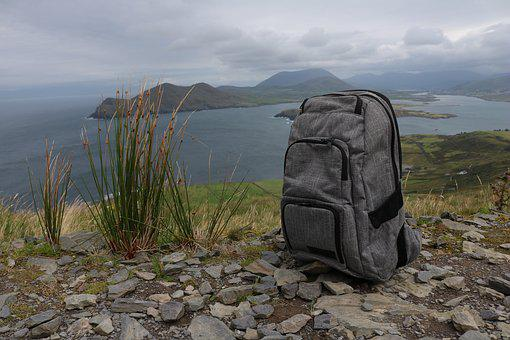 Backpack, Hiking, Break, Rest, Nature, View, Vision