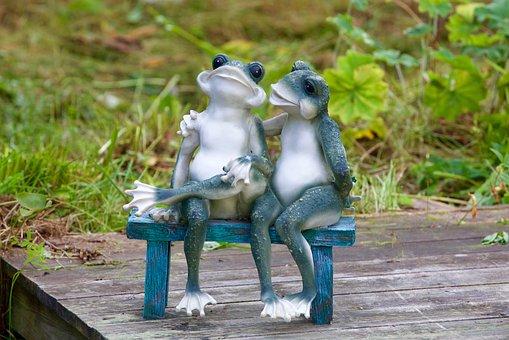Frogs, Kiss, Love, Amphibian, Couple