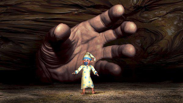 Fantasy, Surreal, Child, Baby, Hand, Composing, Dream