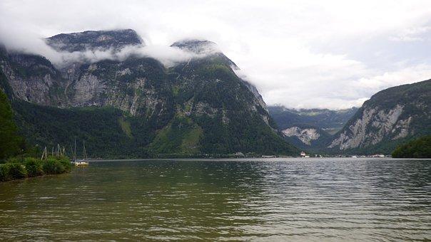 Hallstätter See, Lake, Hallstatt, Obertraun, Austria