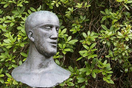 Statue, Head, Sculpture, Modern, Art, Face