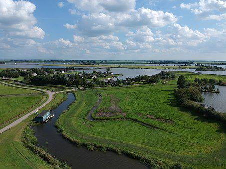 Friesland, Drone, Airphoto, Grou, Landscape