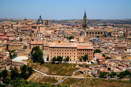 Toledo, Spain, Panorama, Medieval, Architecture