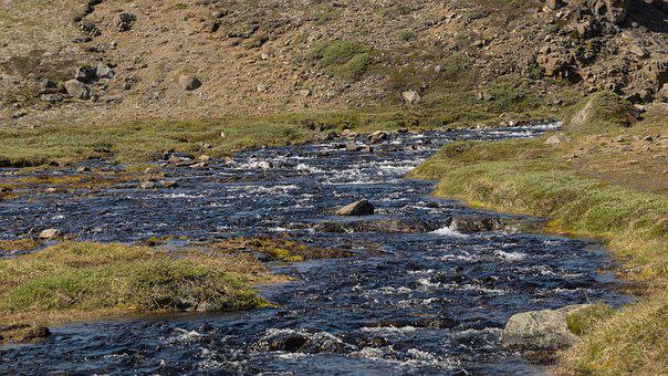 River, Water, Splashing, Rolling, Landscape, Nature