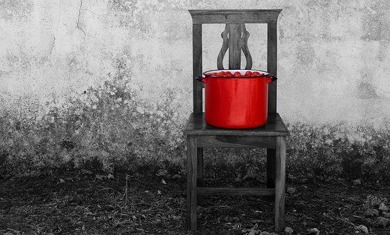 Tomatoes, Pot, Cooking Pot, Chair, Mediterranean