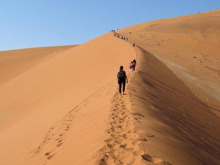Dune, Big, Daddy, Namibia, Desert, Ascension, Sand