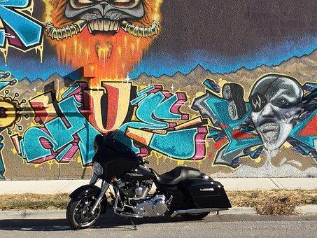 Harley, Davidson, Motor, Motorcycle, Street