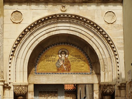 Mosaic, Saint, Picture, Architecture, Traditional