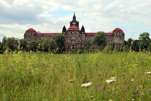 Meadow, Green, Castle, Architecture, Grass, Nature