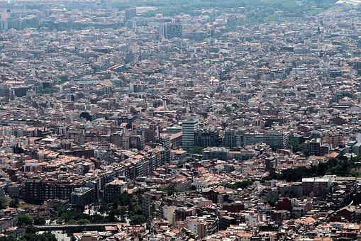 Barcelona, City, Panorama, Big City, Buildings