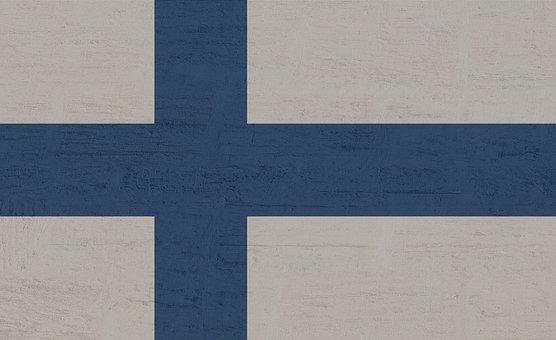 Finland, Flag, Blue