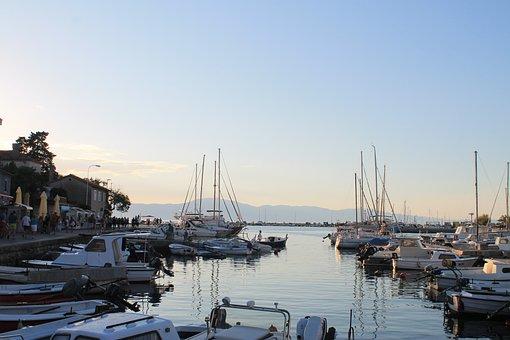 Port, Boats, Ships, Anchor, City, Coast, Sea, Croatia