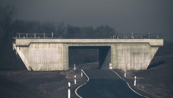 Bridge, Site, Underpass, Building, Road, Pkw