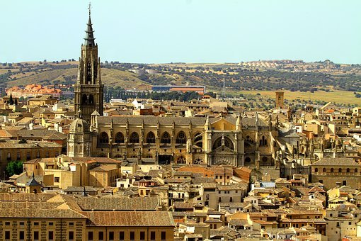 Toledo Spain, Spain, Cathedral, Architecture, Building