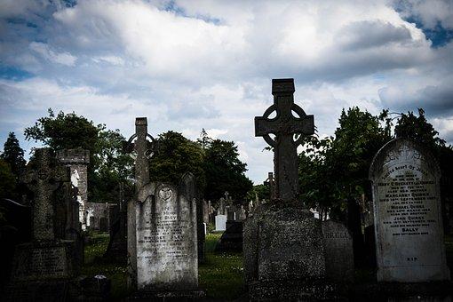 Glasnevin, Dublin, Ireland, Cemetery, Cross, Celtic