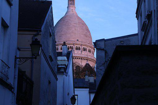 Sacre Coeur, Paris, Street, France, French, Urban