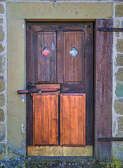 Input, Wooden Door, Old, Wild, Door, House Entrance