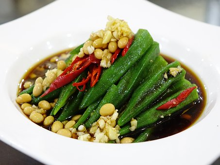Cold Dish, Lady's Finger, Beans, Sauce, Chilli