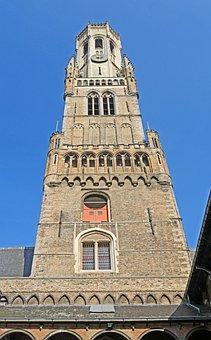 Bruges, Belfry, Courtyard, Landmark
