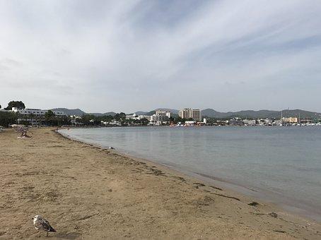 Ibiza, Beach, Sand, Mediterranean, Sea, Sky, Water