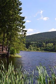 Landscape, Reservoir, Lake, Nature, Water, Resin, Bank