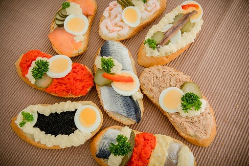 Sandwich, Roll, Fish, Snack, Catering, Eat, Food