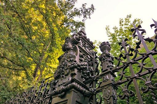 Patumbah, Villa, Statue, Fence, Iron, Artwork, Figures