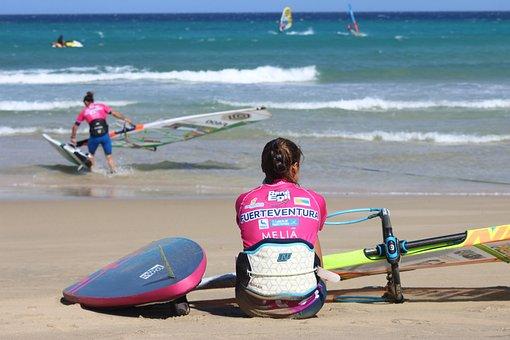 Surfing, Sea, Sport, Sun, Watersports, Sky, Waves