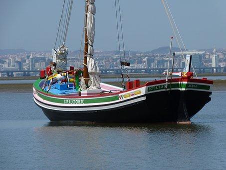 Fishing Boat, Portugal, Lisbon, Catch Fish, Fishing