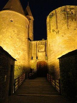 Castle, Chateauneuf-en-auxois, Middle Ages, Stone Wall