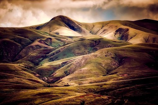 Iceland, Mountains, Sky, Clouds, Nature, Outdoors